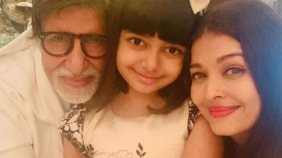 Inside pics from Amitabh Bachchan`s birthday with Aishwarya Rai Bachchan and Aaradhya - Zee News