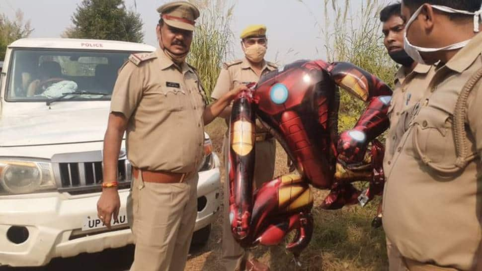 Iron man-shaped balloon in UP sky sparks fear of alien invasion