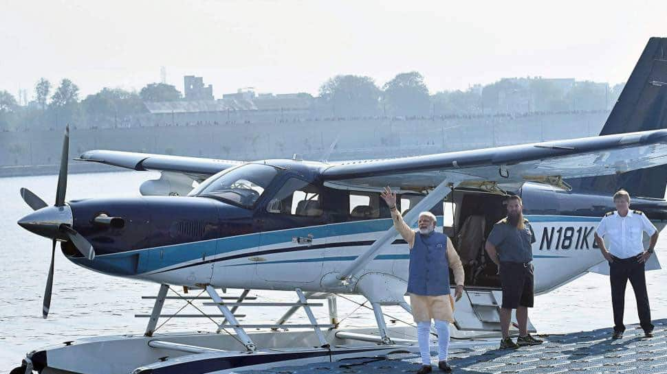 Prime Minister with the Seaplane