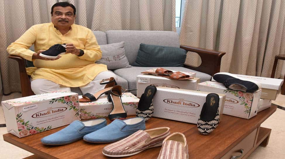 Nitin Gadkari launches Khadi footwear
