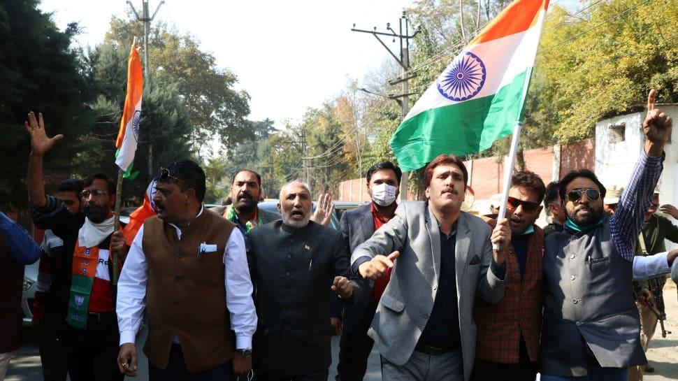 BJP holds 'Tiranga' rally in J&K; slogans raised outside homes of Farooq Abdullah, Mehbooba Mufti