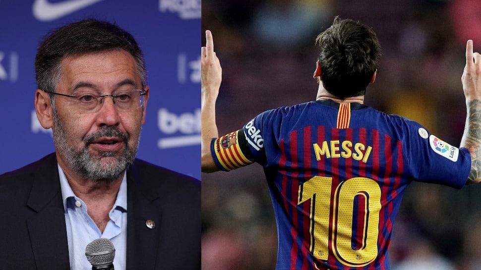 Barcelona president Josep Maria Bartomeu resigns after Lionel Messi row