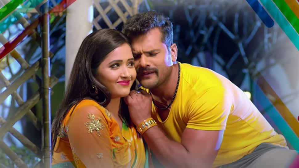 Khesari Lal Yadav and Kajal Raghwani's sizzling chemistry in viral Bhojpuri song Whatsapp Ke Message Banke Dhaniya sets YouTube on fire - Watch