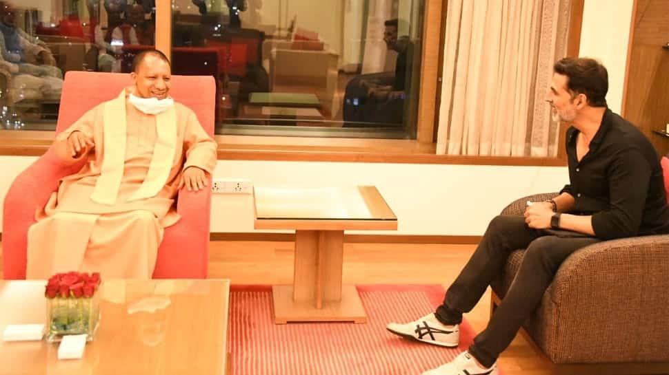 Uttar Pradesh Chief Minister Yogi Adityanath meets Akshay Kumar, talks about his film 'Ram Setu'