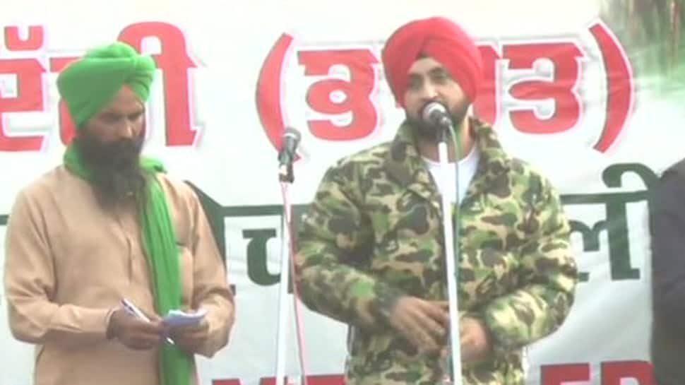 Punjabi singer-actor Diljit Dosanjh lauds protesting farmers at Singhu border, says 'your issues shouldn't be diverted by anyone'