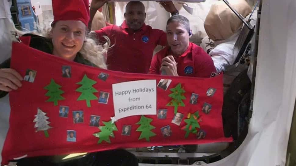 Santa visits ISS astronauts as they celebrate Christmas in space - Watch - Zee News