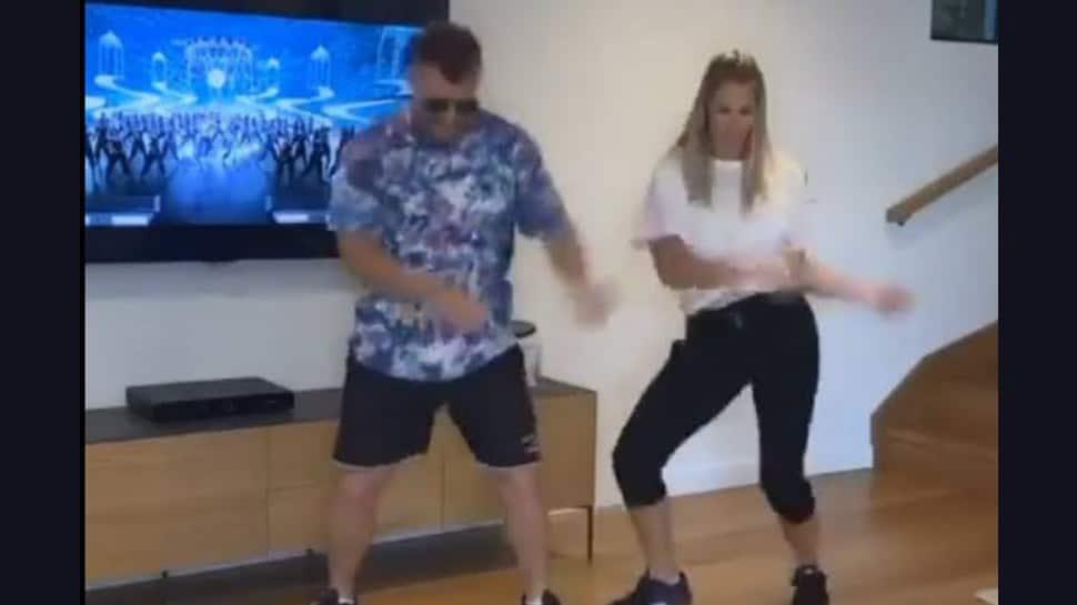 David Warner dances with wife to Mahesh Babu's Hit Song: Watch