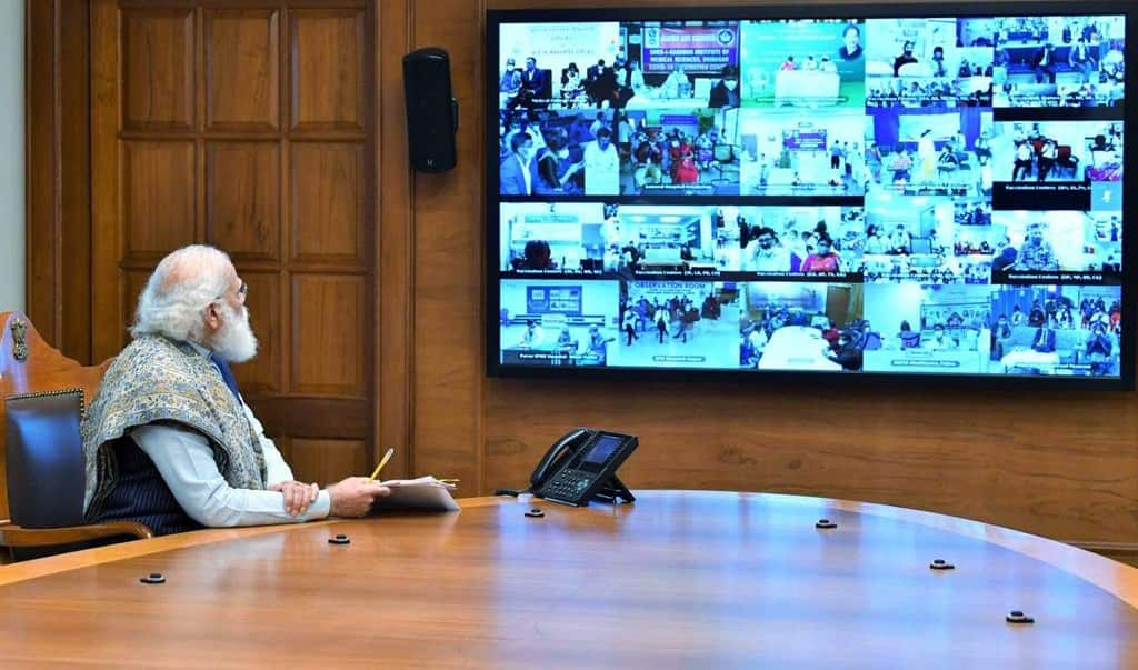 PM Modi during launch of pan India rollout of COVID-19 vaccination drive