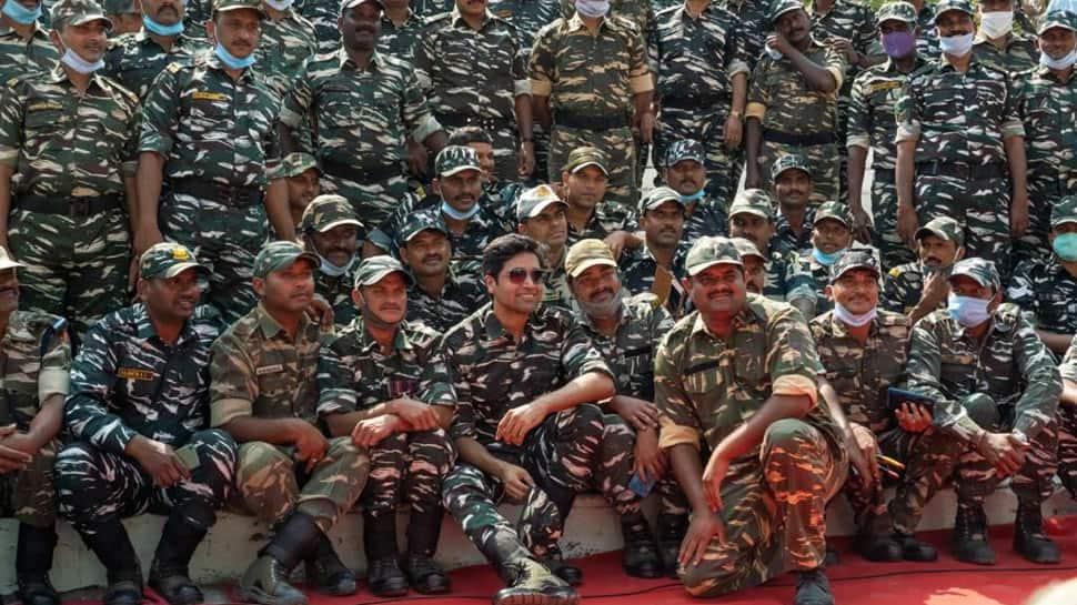 Adivi Sesh, on-screen Major Sandeep Unnikrishnan celebrates Republic Day with CRPF Jawans - In Pics