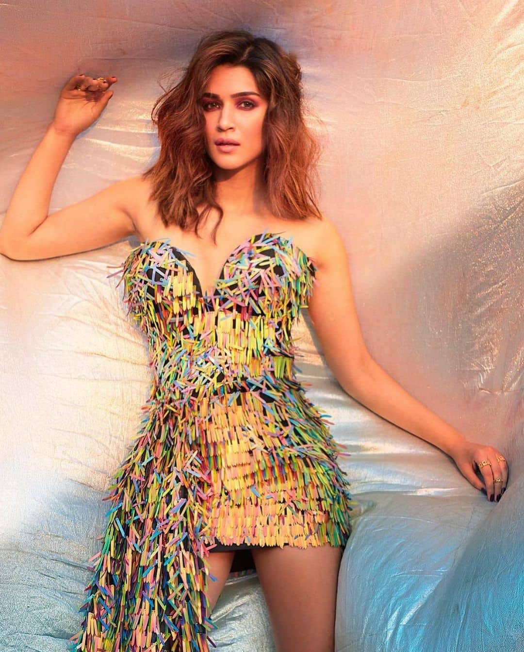 Kriti Sanon flaunts her curves in a quirky bodycon dress