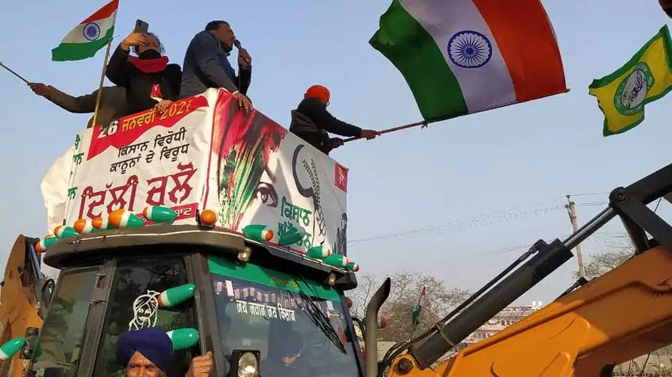 Farmers Protest, Farmers tractor march, Red fort