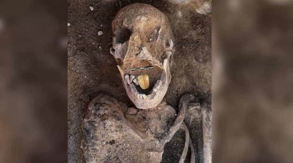 2000-years old Egyptian mummies with golden tongues found in Alexandria
