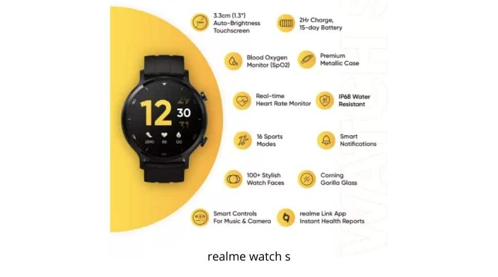 realme Watch S is priced at Rs. 4,999.