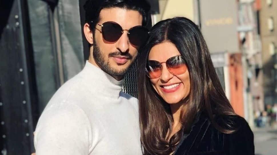 Putting break-up rumours to rest, Sushmita Sen clicked with boyfriend Rohman Shawl on Kiss Day!