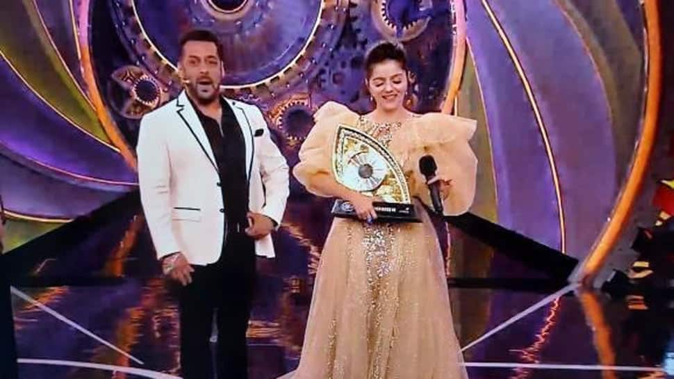 The winner of Bigg Boss 14 is Rubina Dilaik! Rahul Vaidya, Nikki Tamboli emerged as first and second runners-up of the show, respectively.
