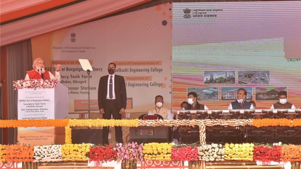 PM Modi addresses laid foundation of important projects in Assam