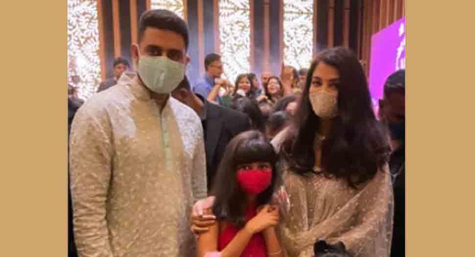 अभिषेक बच्चन, ऐश्वर्या राय बच्चन चचेरे भाई की शादी में शामिल हुए, बेटी आराध्या के साथ परफेक्ट फैमिली फोटो के लिए पोज़ दिया