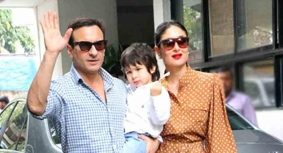 Kareena Kapoor returns home with newborn son, Saif Ali Khan and Taimur snapped inside car