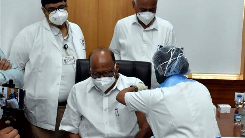 NCP Chief Sharad Pawar gets first shot of COVID-19 Vaccine