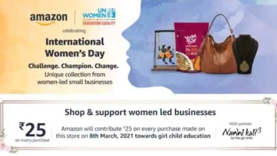 भारत में IWD स्टोरफ्रंट लॉन्च करने के लिए अमेजन ने UN महिलाओं के साथ किया  सहयोग | प्रौद्योगिकी समाचार - News Online Che