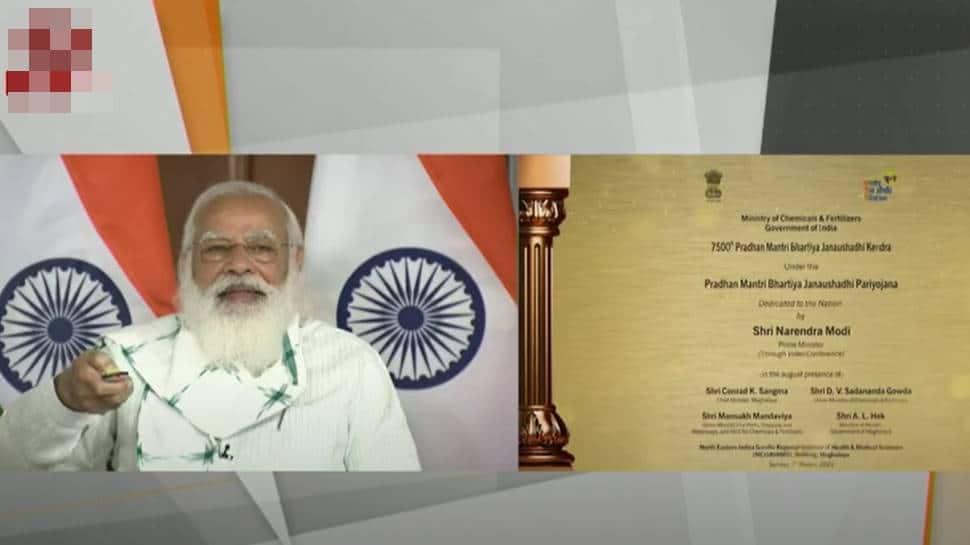PM Narendra Modi inaugurates 7500th Janaushadhi Kendra in Shillong, dedicates it to nation