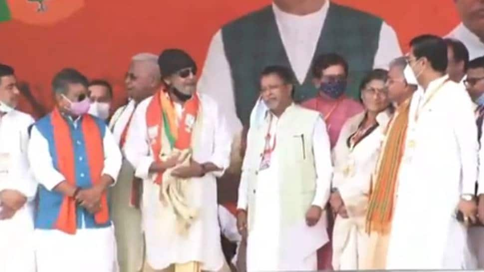 West Bengal Assembly election 2021: Actor Mithun Chakraborty joins BJP at  PM Modi's rally in Kolkata | India News | Zee News