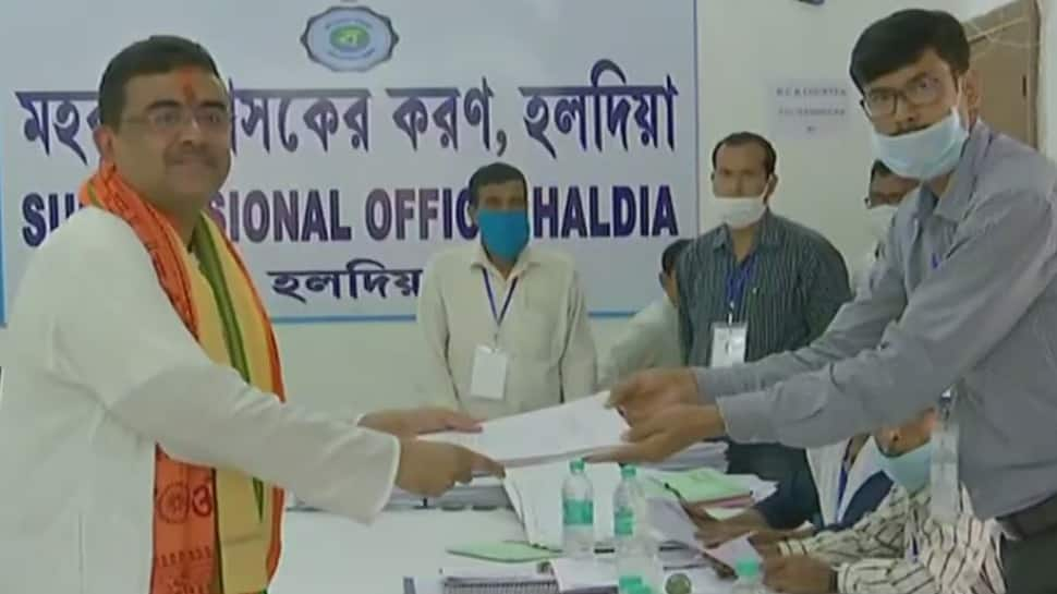 BJP's Suvendu Adhikari files nomination from Nandigram seat, says no question of competition in West Bengal Assembly election