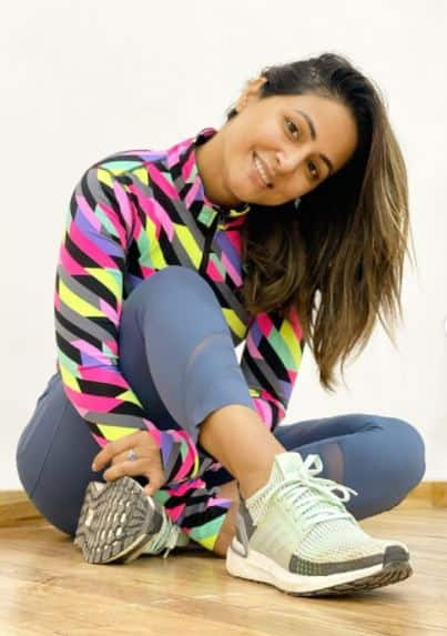hina khan gym looks