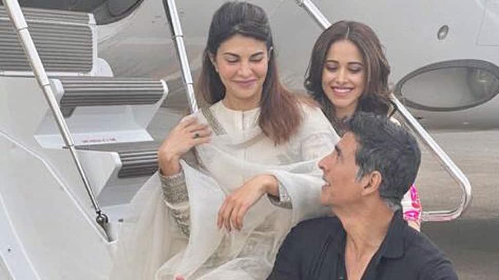 Akshay Kumar, Jacqueline Fernandez and Nushrratt Bharuccha off to Ayodha for Ram Setu shoot - See first pic