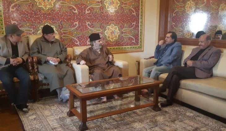 Former Jammu and Kashmir Deputy CM Muzaffar Hussain Baig joins Peoples Conference