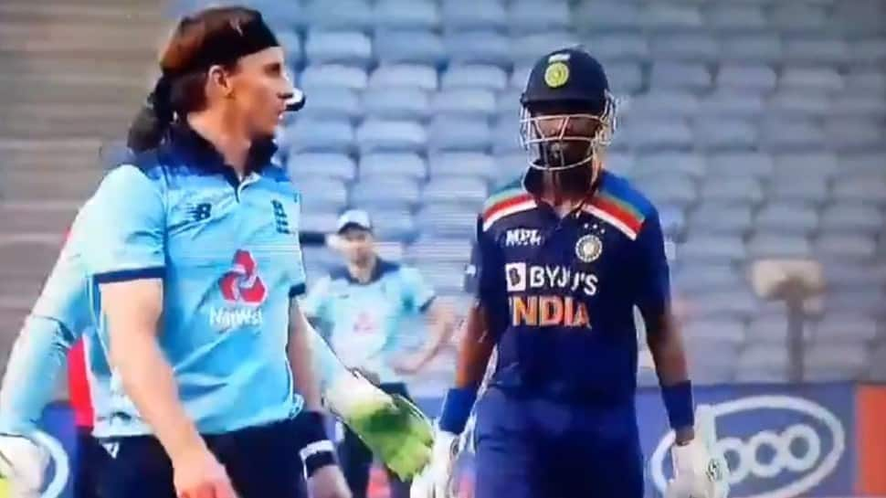 WATCH: Krunal Pandya and Tom Curran involved in heated exchange during 1st ODI between India-England
