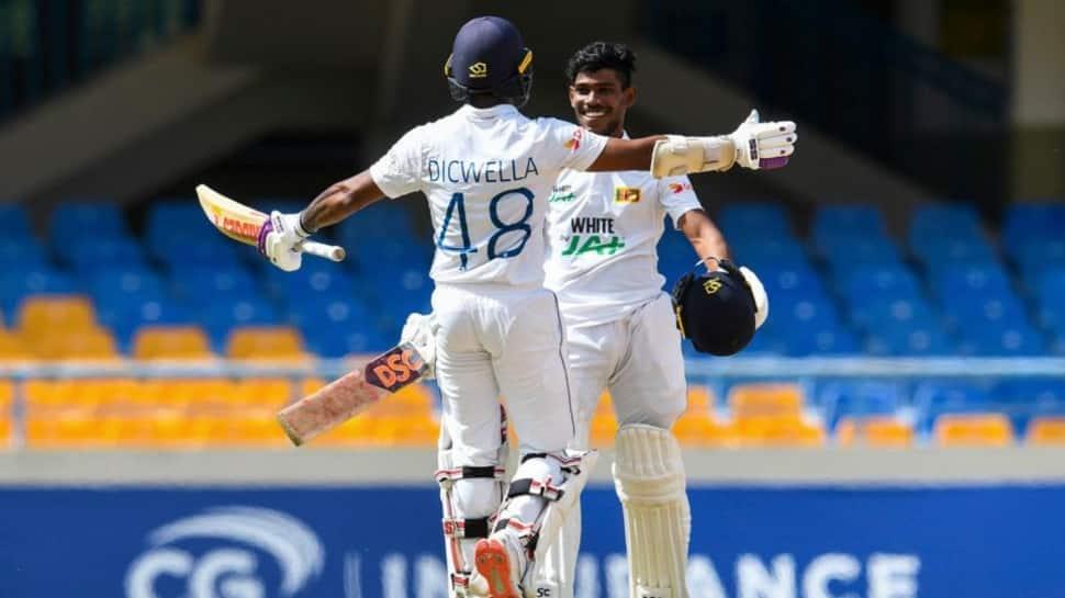 WI vs SL 1st Test: Pathum Nissanka century helps visitors set tough target for Windies