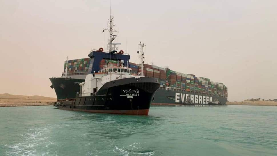 Ship blocking Suez Canal still stuck, companies losing crores everyday
