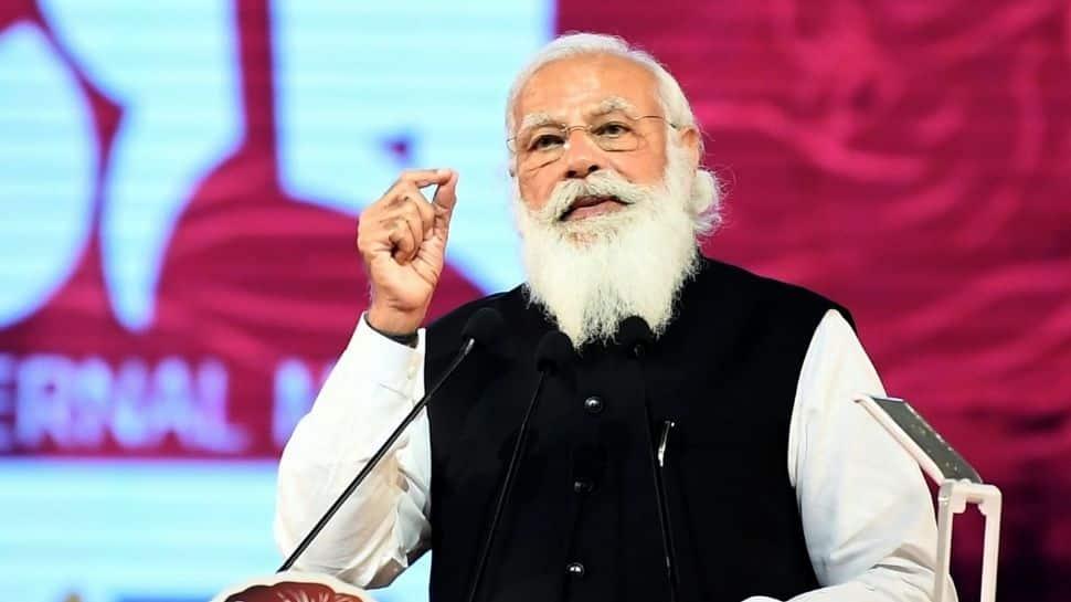 PM Modi speaking at National Day programme
