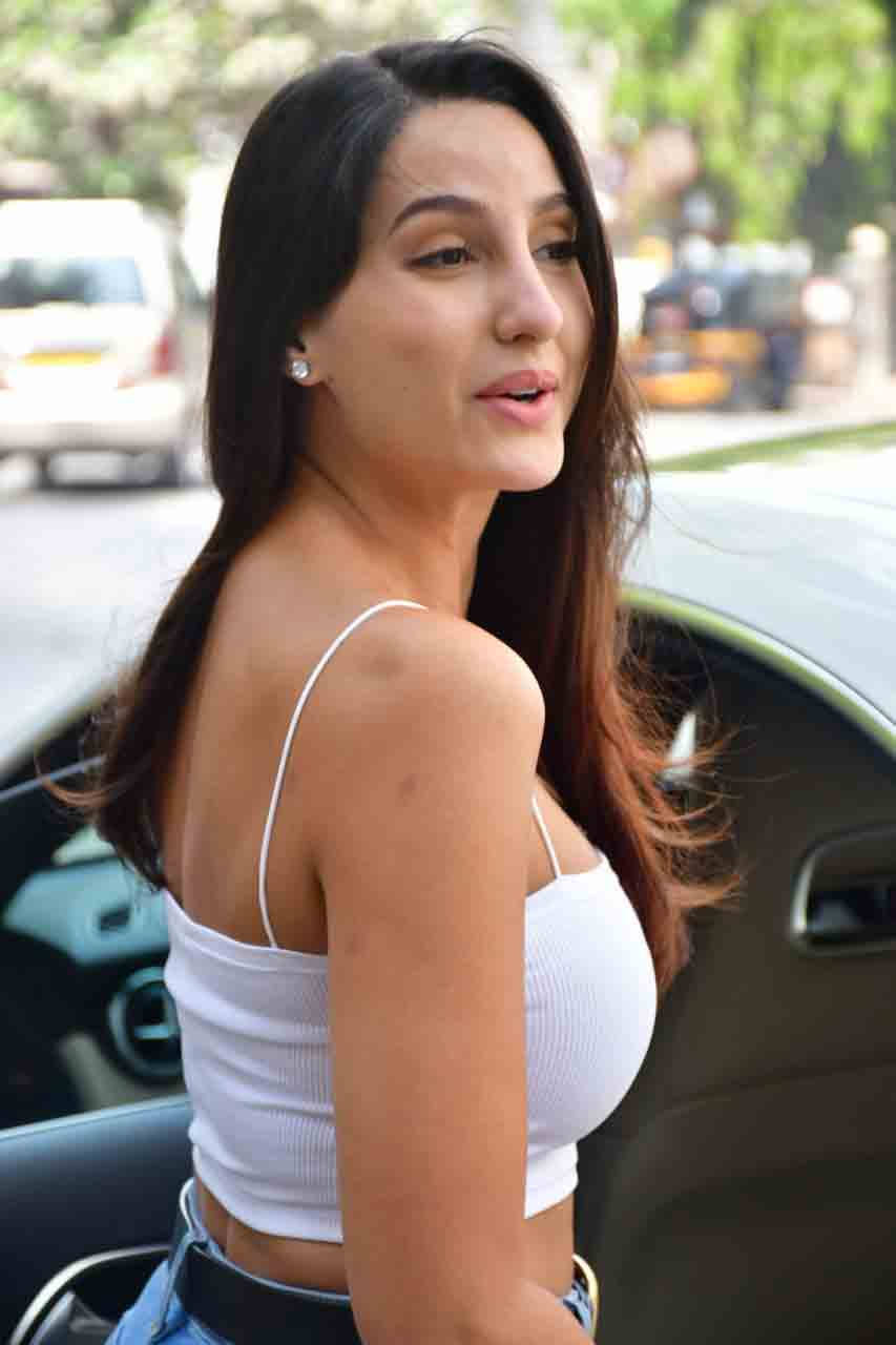 Nora Fatehi steps out for salon session