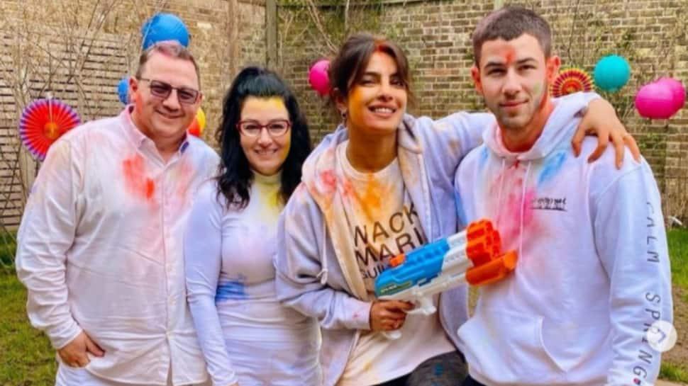 Priyanka Chopra celebrates her 'favourite festival' Holi with hubby Nick Jonas and fam jam