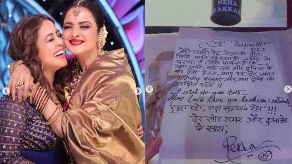 Newlywed Neha Kakkar receives hand-written note from Rekha on Indian Idol 12