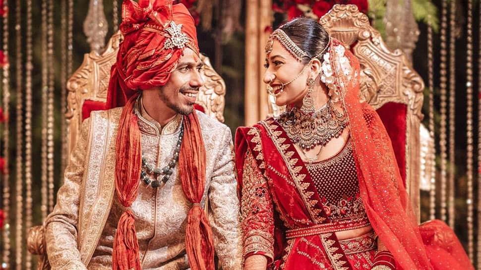 Cricketer Yuzvendra Chahal and YouTuber woman  Dhanashree Verma's wedding video is trending precocious   - Watch