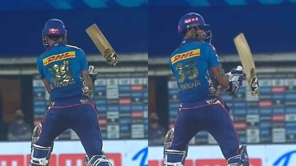 IPL 2021: RCB's 6-feet-8-inch tall pacer Kyle Jamieson breaks MI all-rounder Krunal Pandya's bat into two - WATCH