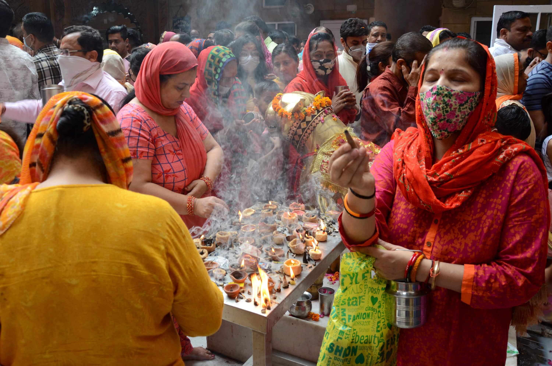Devotees at Longa Wali Devi Temple