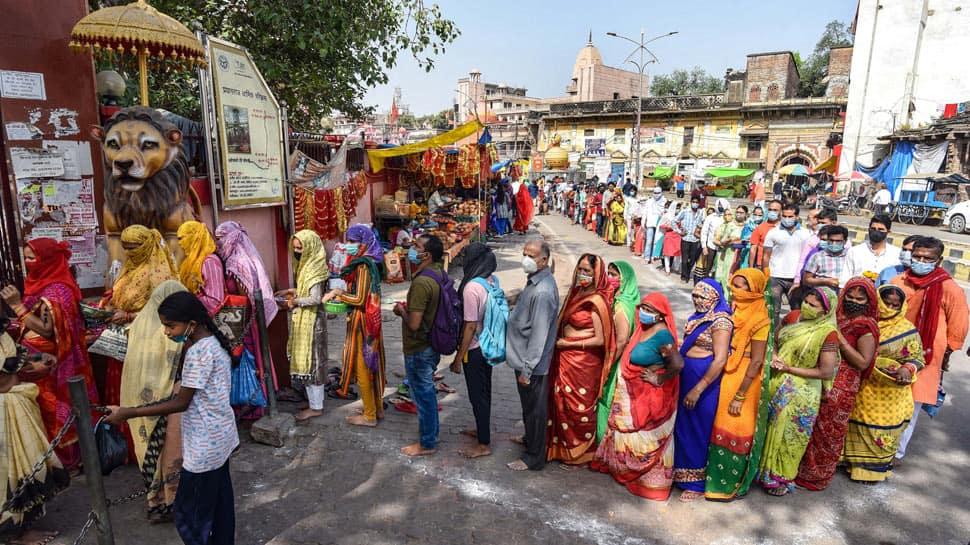 Chaitra Navratri celebrations amid COVID-19 scare at Alopi Devi Temple