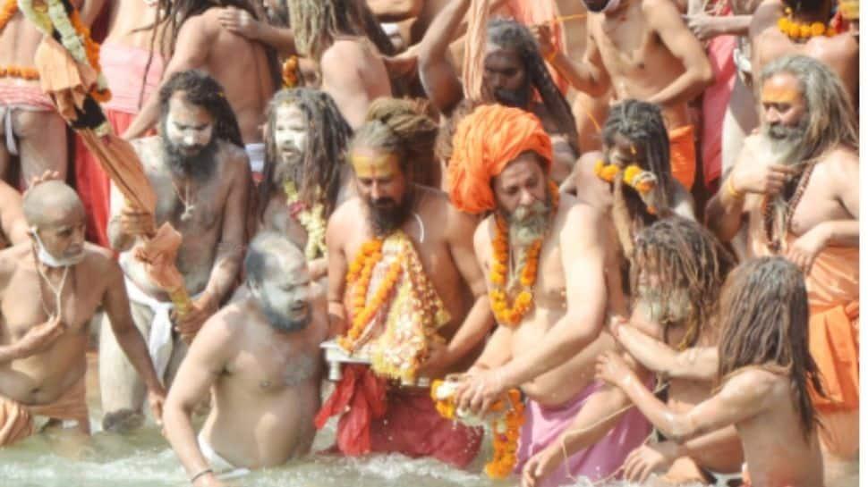 Devotees in Kumbh amid COVID-19 scare
