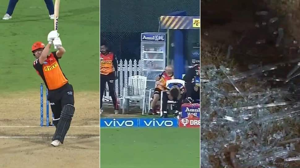 IPL 2021: Jonny Bairstow hits glass-shattering SIX before getting out hit-wicket in MI vs SRH clash - WATCH
