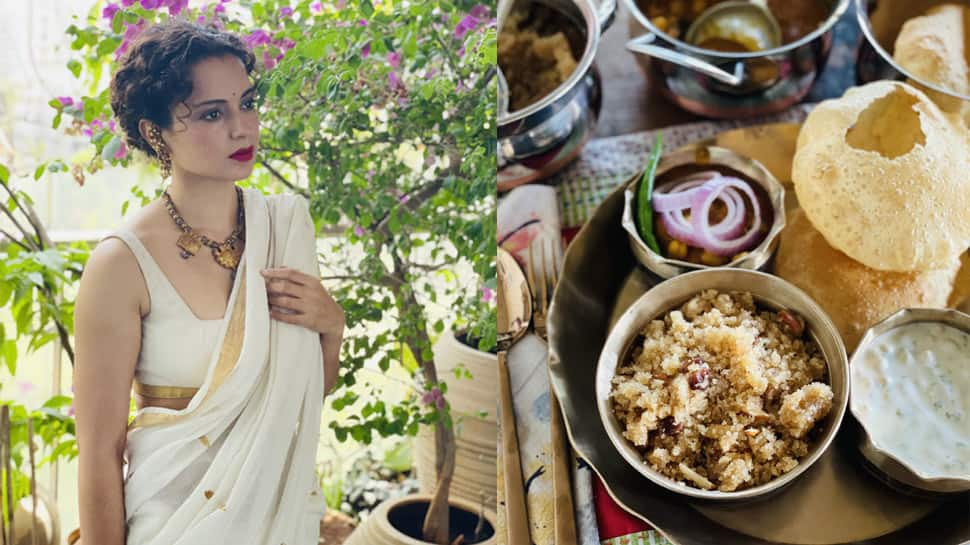 Kangana Ranaut BRUTALLY trolled for posting pic of Durga Ashtami prasad with 'onions', netizens call her 'anti-Hindu'!
