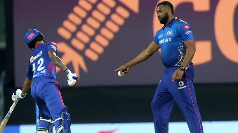 IPL 2021: Kieron Pollard almost does a R Ashwin, gives 'mankaded' warning to Shikhar Dhawan