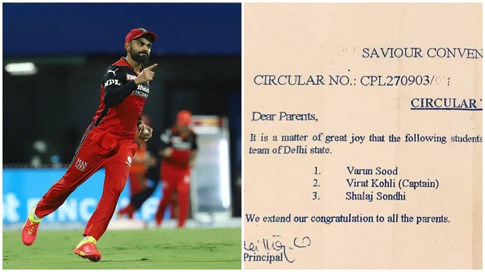 IPL 2021: 18-year-old letter from Virat Kohli's school goes viral, mentions captain's special feat