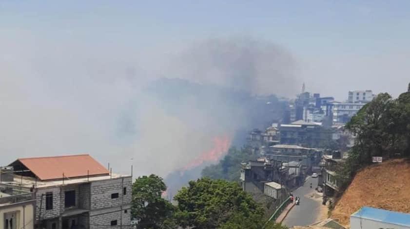 Massive fire breaks out in Mizoram