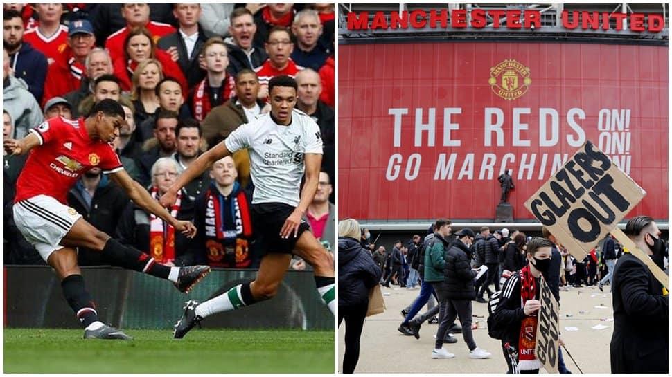 Man United vs Liverpool postponed after fans invade Old ...