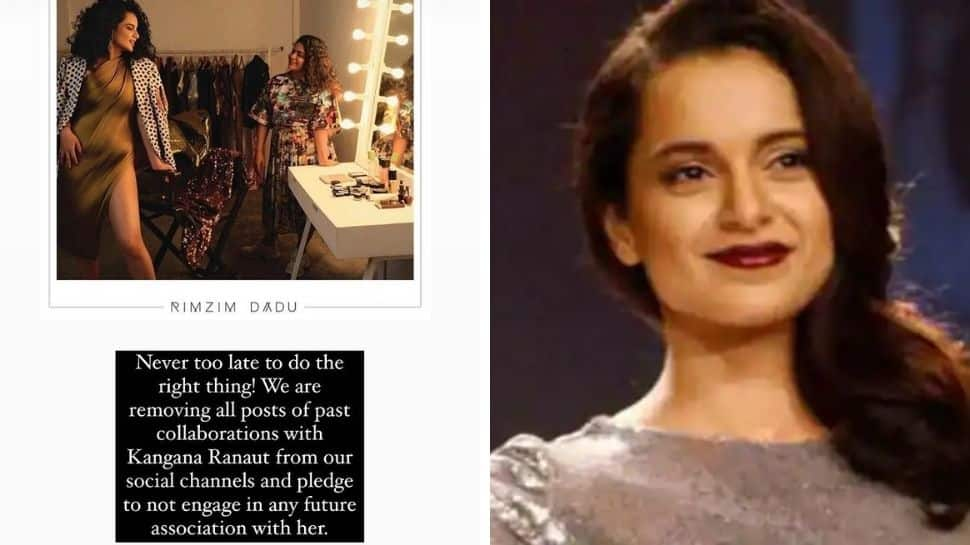 Designers Anand Bhushan, Rimzim Dadu shun Kangana Ranaut after Twitter controversy, say 'we pledge to never associate with her'