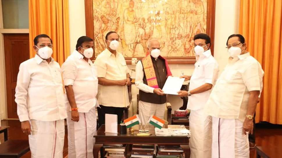 DMK chief MK Stalin calls on Tamil Nadu Governor, stakes claim to form government | Tamil Nadu News